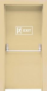 Panik barlı kapı