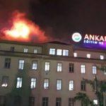 Ankara Numune Hastanesinin çatısında yangın